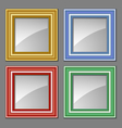 colored frames vector image vector image