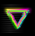 colorful glitch triangle geometric shape frame vector image vector image