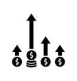 competitive edge black glyph icon market