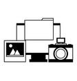 computer camera photo folder file vector image vector image