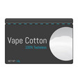 cotton for electronic cigarettes icon vector image vector image