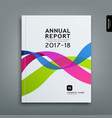 cover annual report colorful ribbon design vector image vector image