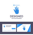 creative business card and logo template hand vector image vector image