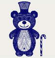 Creative teddy bear vector | Price: 1 Credit (USD $1)