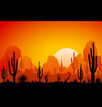 desert the sunset vector image