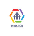 direction business logo design abstract arrows vector image vector image