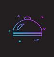 dish icon design vector image vector image
