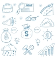 Doodle of set object business vector image