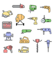 electric power tools set vector image vector image