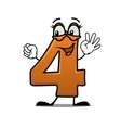 Excited happy number 4 vector image vector image