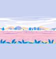 fantastic field game background flat landscape vector image