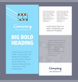 film business company poster template with place vector image