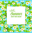 floral summer card vector image vector image