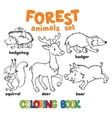 Forest animals coloring book vector image vector image
