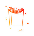fries icon design vector image vector image