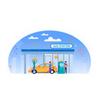 gas station flat money for fuel vector image vector image