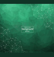 geometric dark green polygonal background vector image
