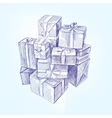 gift box hand drawn llustration realistic vector image