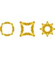 gold branch frames vector image vector image