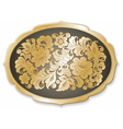golden tray russian style vector image