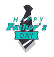 happy father day green ribbon necktie white back vector image vector image