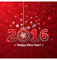 Happy New Year 2016 greeting card vector image vector image