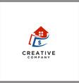 home money logo design vector image vector image