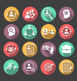 human resources circle icons cv buttons vector image