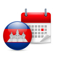 Icon of national day in cambodia vector image vector image