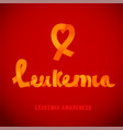 leukemia awareness image vector image vector image