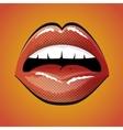 lip female beautiful d icon vector image vector image