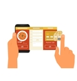 mobile app for ordering pizza vector image vector image