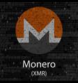 monero cryptocurrency background vector image vector image