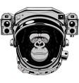 monkey cheerful astranavt vector image vector image