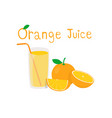 orange and orange cut in half on white background vector image