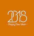 plexus of numbers 2018 with happy new year text vector image vector image