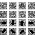 qr code with arrows vector image vector image