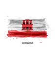 realistic watercolor painting flag gibraltar vector image