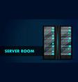 server room concept web hosting center data bank vector image