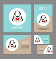 set of corporate branding with womens accessories vector image vector image