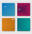 set of geometric halftone gradients vector image vector image