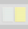 set two laned paper form template blank vector image vector image