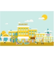 Small town with small and medium business vector image