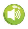 speaker sound button icon vector image vector image