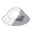 sticker contour lace hat roses bowler retro design vector image vector image