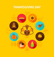thanksgiving day concept vector image vector image