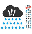 Thunderstorm Rain Cloud Icon With Free Bonus vector image