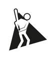 triangle block baseball sport figure outline vector image