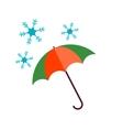 Umbrella with Snow vector image