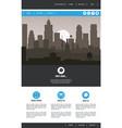urban website template vector image vector image